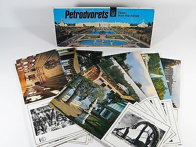 Set Of 12 Vintage Russia Petrodvorets Risen From The Ashes Postcards In Folder