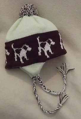 BEAGLE dog NEW knitted lined ADULT SIZE MINT GREEN TRAPPER EAR FLAP HAT