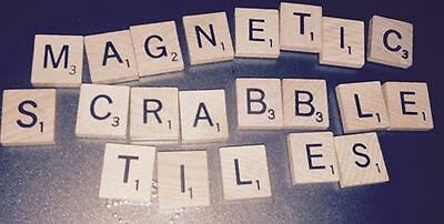 10 Vintage and/or New Scrabble Tiles with magnets