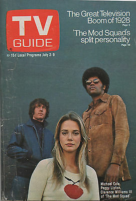 1971 TV Guide Michael Peggy Lipton Clarence Williams III  The Mod Squad NO LABEL