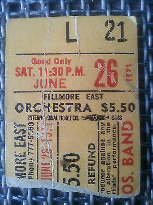 RARE Allman Bros 1971 FINAL SHOW AT FILLMORE EAST TICKET STUB Duane HOLY GRAIL!!