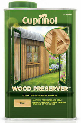 Cuprinol Wood Preserver Clear in All Sizes - 1 Litre and 2.5 Litres New