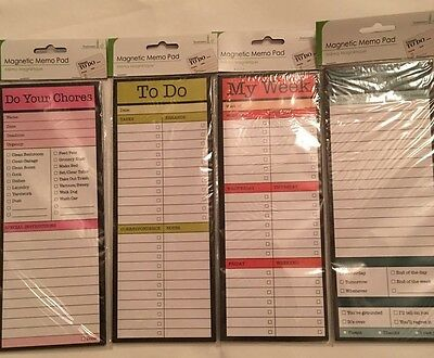Magnetic Memo Pad Daily To Do Don't Forget My Week Do Your Chores UK Seller