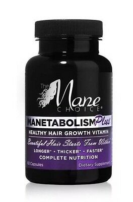 The Mane Choice Manetabolism Plus Hair Growth Vitamins 60 Capsules Dec 16 stock