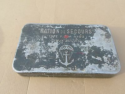 French Indochina War Airborne Paratrooper Emergency Ration Tin