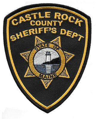 Castle Rock County Sheriff's Dept prop police sheriff patch Stephen King