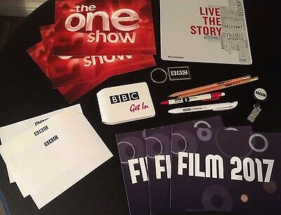 Bundle of BBC Radio TV Items Wallet Pens Mousemat - The One Show cards belt clip