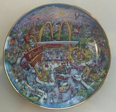 Mcdonald's Golden Moment Plate. The Franklin Mint. FREE POSTAGE!