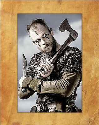 Vikings TV Series Floki 8X10 with parchment background in the print