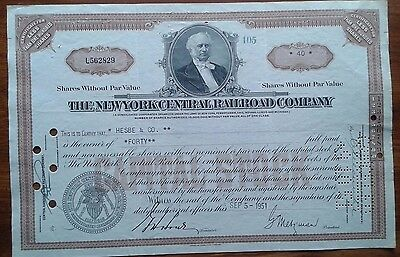 New York Central Railroad Company Stock Certificate number L562829