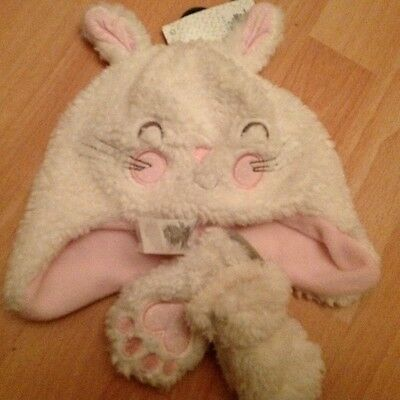 Girls  Easter  Bunny Hat And Gloves Set  Age 0 6 Months