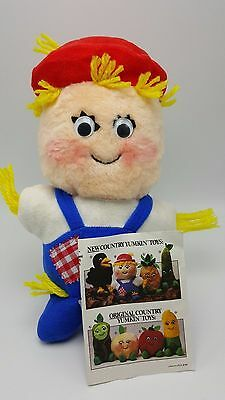 Country Yumkin Shoo shoo Scarecrow Del Monte Plush Stuffed animal leaflet 1983
