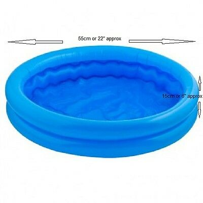 Baby Toddler Kids Childs Paddling Pool 2 Ring Small 55cm Inflatable Swimming Toy