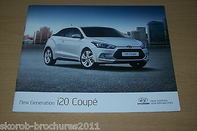 HYUNDAI -  The New Generation i20 Coupe Sales Brochure 3/2015...