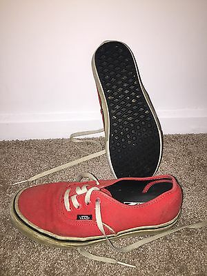 Red Vans Shoes Size 5 Mens Size 6.5 Women's