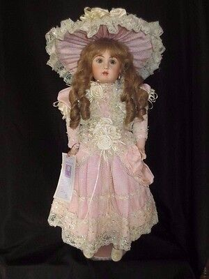Rustie Signed Doll ~ Pretty In Pink Victorian Child ~ Numbered 159/1500