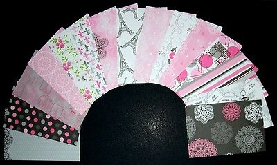 "Beautiful Scrapbooking Papers x 16 **CHANTILLY** - 15cm X 10cm (6"" x 4"")"