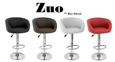 Zuo Faux Leather Modern Adjustable Bar Stool (Set of 2)