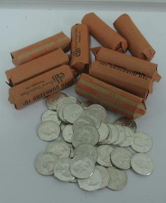 Washington, Silver, BU Quality Uncirculated Quarters, $10 Rolls! Free Shipping!!