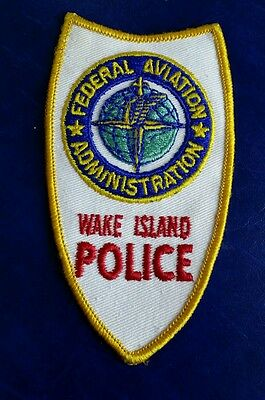 Federal Aviation Administration Wake Island Us Territory Police Shoulder Patch