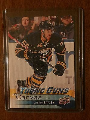 2016-17 Upper Deck Series 1 Young Guns Canvas Justin Bailey C 109