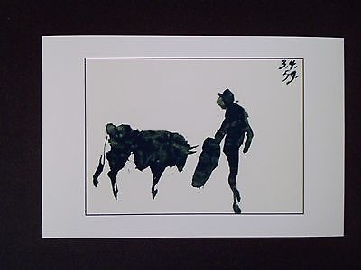 6X4 Semigloss Photo of a Picasso Bullfight Print