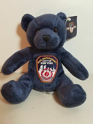 "New York Fire Collectible 8"" Plush Bear"