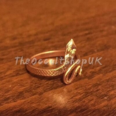 Copper Snake Ring Adjustable Chakra Nagini Hippy Boho Karma Celtic Gothic Wicca