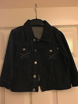 Mothercare Boys Girls Jeans Jacket Size 1/1.5 Years