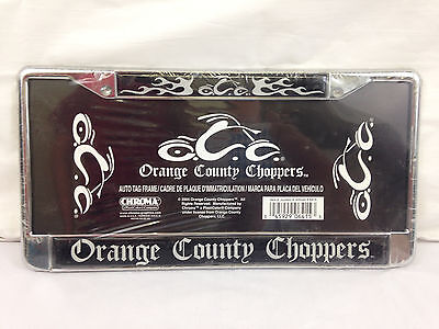 New Chrome Orange County Choppers OCC License Plate Surround!