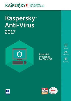 Kaspersky AntiVirus 2017 3 PC / User / Devices / 1 Year