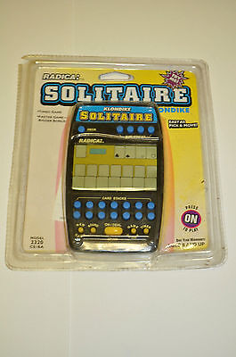 NEW - Radica Solitaire Handheld Electronic Card Game - Model 2320