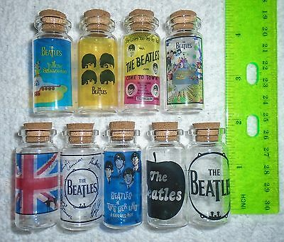 The Beatles Collectors Glass Bottles with Corks