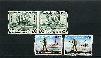 SOLDIERS WHO SERVED IN KOREA 1951/53 COLOMBIA stamps {4}1955/  1971