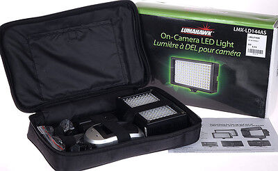 Lumahawk On-Camera Led Light 144 - Variable Colors - Powerful (Fotodiox Generay)