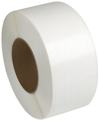 """PAC Strapping 48M.27.2290  1/2"""" Machine Grade White Polypropylene Strapping 9..."""