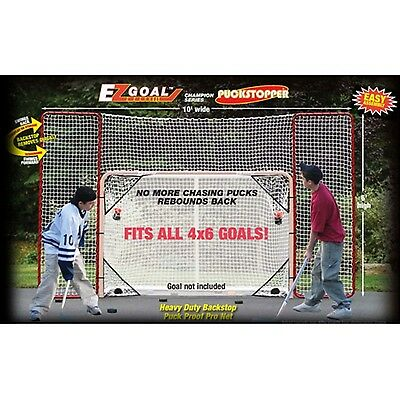 EZGoal Hockey Backstop Kit with Targets Red/White