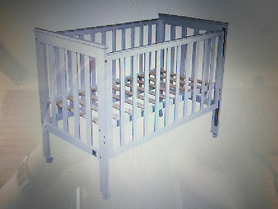 Childcare brand Cot - White - Converts to toddler bed