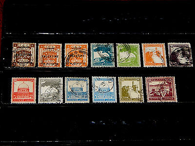 Palestine stamps for sale - 13 used early stamps - very nice !!