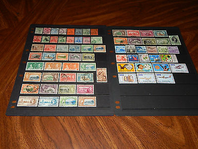 Trinidad & Tobago stamps - 71 mint hinged & used early stamps - great group !!