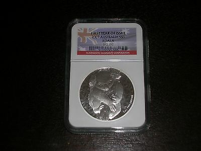 "2007 Australia .999 Silver Koala NGC MS69 ""First Year of Issue"" LOOK"