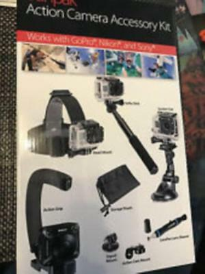 GoPro - Nikon - Sony Sunpak Action Camera Accessory Kit - Head Mount Selfie Pod