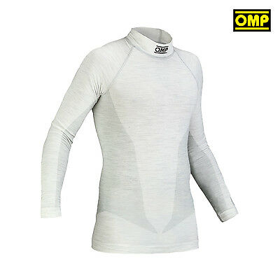 OMP ONE MY14 White Longsleeve Top (FIA) s. XL