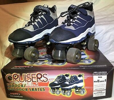 CRUISERS Indoor/Outdoor ROLLER SKATES Mens Size 8  Womens Size 9 NASH SPORTS