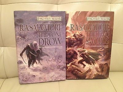 R.A. Salvatore The Hunters Blades Trilogy Books 2 and 3 Hardcover 1st Edition 20