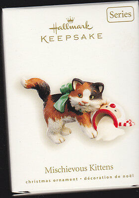2008 Dated Hallmark Mischievous Kittens Series Ornament
