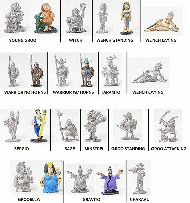 Dark Horse 25mm Metal Miniature Groo Loose Painted & Unpainted - Choose A Figure