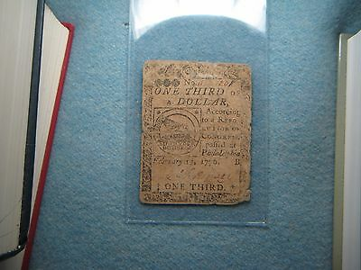 1776 Fugio Colonial Bill! Ben Franklin Design! February 17, 1776, Philadelphia!