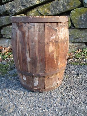 Old Lg.Thick Rustic Wood Keg/Nail Barrel Farm/Cowboy Western Country Decor NICE!
