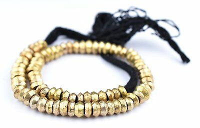 Brass Wollo Rings 9mm 80 Rings Ethiopia African Large Hole 22 Inch Strand